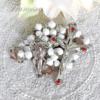 スワロフスキー 小さなバラのロザリオ(白)