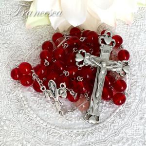 ハートの十字架のロザリオ