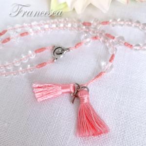 数珠に見えるロザリオ(ピンク)
