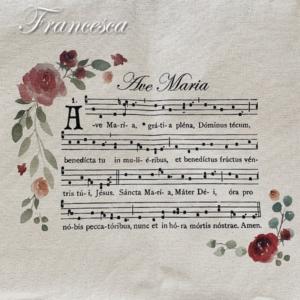 ネウマ譜のトートバッグ(Ave Maria)