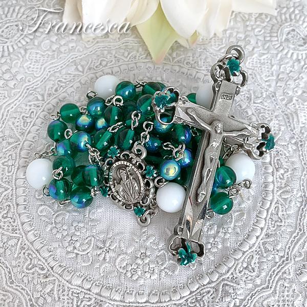 聖パトリックのロザリオ(グリーン&ホワイト)