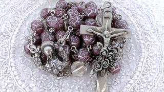 幼きイエズスの聖テレジアのロザリオ(パープル&クリア)